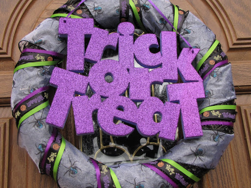 Halloween Dollar Tree Spookathon Wreath